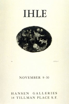 Poster for Exhibition at the Hansen Gallery, San Francisco, November 9 - 30, 1964