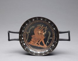 Red-Figure Kylix (drinking cup) depicting Apollo