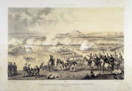 México./ ALA DERECHA DE LA BATALLA GANADA A LOS FRANCESES EL 5. DE MAYO DE 1862./(Garita de Amozac) (Mexico City/ At right ,the battle defeating the French 5 May 1862 (sentry opoint of Amozac), a page from EL ALBUM DE LA GUERRA (Album of the War)