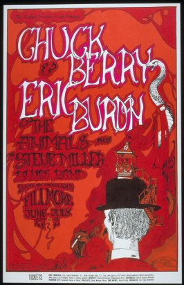 Chuck Berry, Eric Burdon & the Animals, Steve Miller Blues Band, June 27 - July 2, Fillmore Auditorium