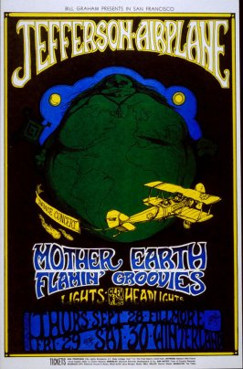 Jefferson Airplane, Flamin' Groovies, Mother Earth, September 28, Fillmore, September 29 & 30, Winterland