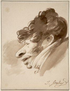 Caricature of a Man's Head