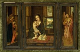 Madonna and Child with Two Angels (triptych)