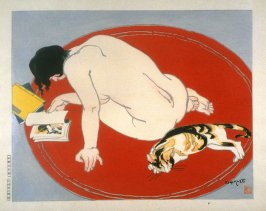 Leisure Hours (Nude and Cat)