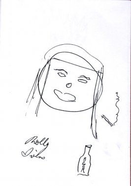 Molly Ivins (Self-portrait), Illustration 8 in the book Sketchbook (Sun Valley, Idaho)