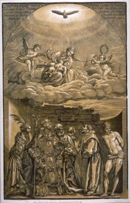 Virgin in the Clouds and Six Saints, from the series 'Opera selectiora'