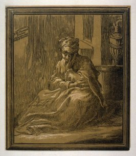 The Virgin seated on a hassock; Woman Meditating