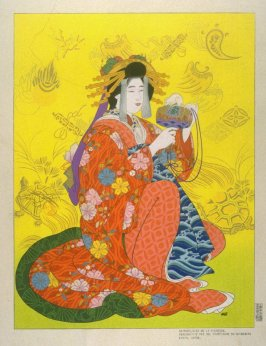 Daikoku, God of Health, Personified by a Courtesan of the Shimabara, Kyoto
