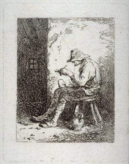 Fumeur (Peasant smoking in a Cottage)