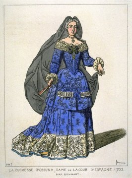 Duchess of Ossuna, woman of the Court of Spain, 1702