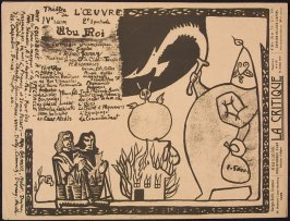 Announcement for the premiere of Ubu Roi, by Alfred Jarry, at the Théâtre de l'Oeuvre