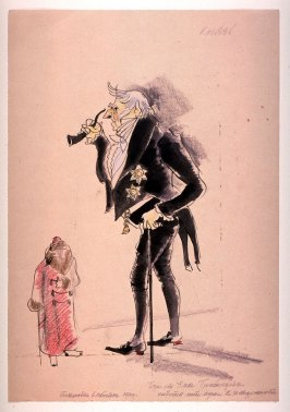 Costume Design for a Prince, Wit Works Woe by Alexander Griboyedev, production at Ljublana, Slovenia