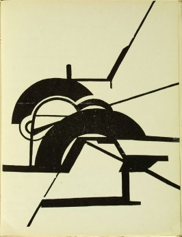 Untitled, illustration 2, in the book Bezette Stad by Paul van Ostayen (Antwerpen: Uitgave van het Sienjall, 1921)