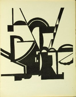 Untitled, illustration 4, in the book Bezette Stad by Paul van Ostayen (Antwerpen: Uitgave van het Sienjall, 1921)