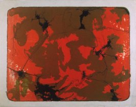 Untitled (abstract in red and brown)