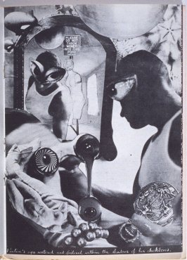 Pauline's eyes watered and glistened within the shadows of her cheekbone, seventh image in the book The Better Dream House (White Rabbit Press, 1968)