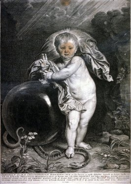 Infant Christ with the Serpent Standing at a Globe