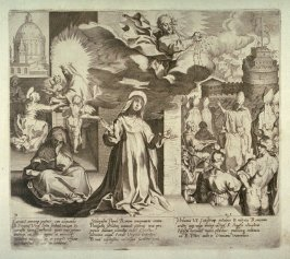 Scenes 28-30 from the life of St. Catherine of Siena