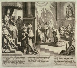 Scenes 10-12 from the life of St. Catherine of Siena