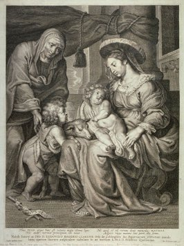 The Holy Family With St. John Presenting A Lamb