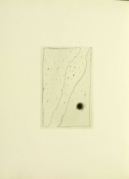 Untitled, illustration 8, in the book Foirades / Fizzles by Samuel Beckett (London and New York: Petersburg Press S. A., 1975-76)