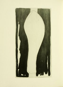 Untitled, illustration 9, in the book Foirades / Fizzles by Samuel Beckett (London and New York: Petersburg Press S. A., 1975-76)