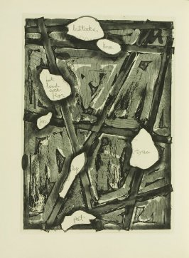 Untitled, illustration 30, in the book Foirades / Fizzles by Samuel Beckett (London and New York: Petersburg Press S. A., 1975-76)