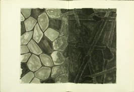 Back endpapers, in the book Foirades / Fizzles by Samuel Beckett (London and New York: Petersburg Press S. A., 1975-76)