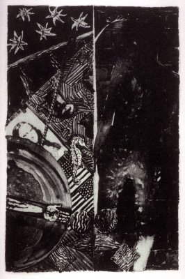 Summer (state II), frontispiece to the book Jasper Johns/The Seasons. Catalogue with essay by Roberta Bernstein. (New York: Brooke Alexander Editions, 1991)