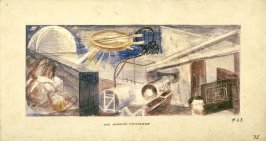 The Medical Cyclotron, Mural Study for Rincon Annex Post Office