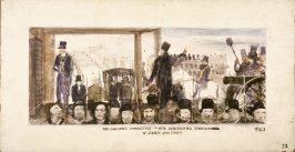 The Vigiliance Committee of 1856 Demanding the Surrender of Casey & Cora, Mural Study for Rincon Annex Post Office