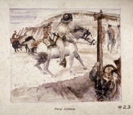 Pony Express, Mural Study for Rincon Annex Post Office