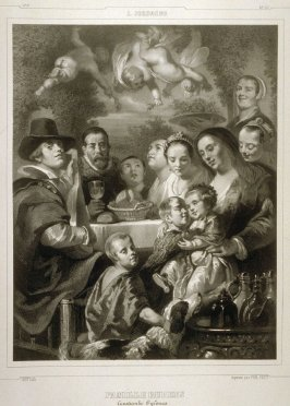 Famille Rubens..(The Rubens Family)...thirty third plate in the book...[Title in Russian and French] Imperatorskaya Ermitazhnaya Galereya … Galérie Impériale de l'Ermitage (Saint Petersburg: Gohier Desfontaines, 1847)