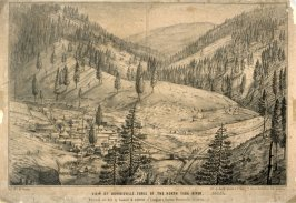 View of Downieville, Fork of the North Yuba River