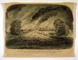 View of the Conflagration of Marysville, on the Night of August 30th 1851
