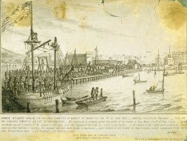 James Stewart Hung by Vigilance Committee on Market Street Wharf, on the 11th of July 1851