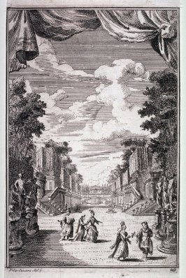 The Garden, plate 20 of the libretto for Scene III of the opera by Filippo Amidei, Teodosio il Giovane