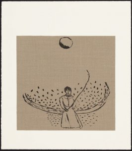 """Woman with Stick and Ball from Portfolio """"Mostly"""""""