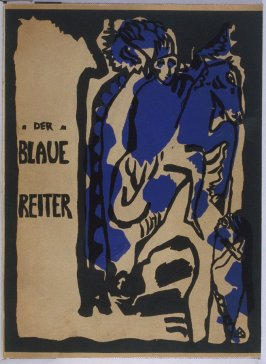 """Der Blaue Reiter"" (The Blue Rider) original cover for the book Der Blaue Reiter (The Blue Rider) (Munich: R. Piper Co., 1912)"