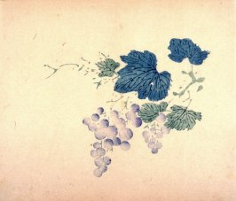 Grapes, No.7 from the Volume on Fruit - from: The Treatise on Calligraphy and Painting of the Ten Bamboo Studio