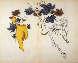 Snake-gourd Vine, No.19 from the Volume on Fruit - from: The Treatise on Calligraphy and Painting of the Ten Bamboo Studio