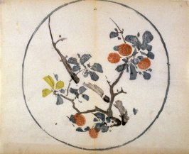 Litchi Nut Branches, No.5 from the Volume on Round Fans - from: The Treatise on Calligraphy and Painting of the Ten Bamboo Studio