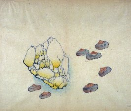 Seven Nuts and Rock, No.20 from the Volume on Fruit - from: The Treatise on Calligraphy and Painting of the Ten Bamboo Studio