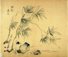 """Shadow of the Cliff""- No.15 from the Volume on Bamboo - from: The Treatise on Calligraphy and Painting of the Ten Bamboo Studio"
