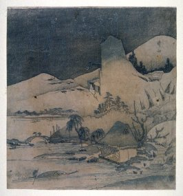 [Landscape with house on a lake]