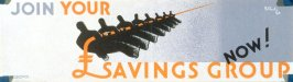 Join Your Savings Group Now! - World War II Poster
