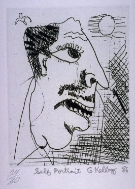 Self-Portrait, fifth plate from the portfolio, Personal Expericence