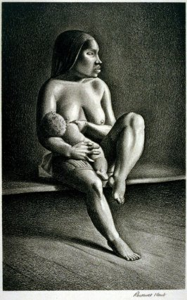 Greenland Mother Nursing a Child