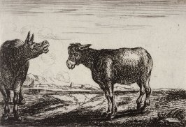 [Two Mules, from] Series of Six Etchings of Animals