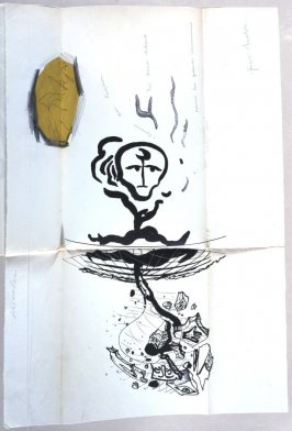Untitled, frontispiece, in the book Ode à Charles Fourier by André Breton (Paris: Éditions de la Revue Fontaine, 1947).